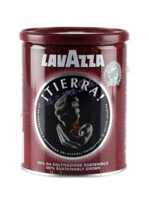 Кофе Lavazza молотый Tierra 250 гр ж.б.